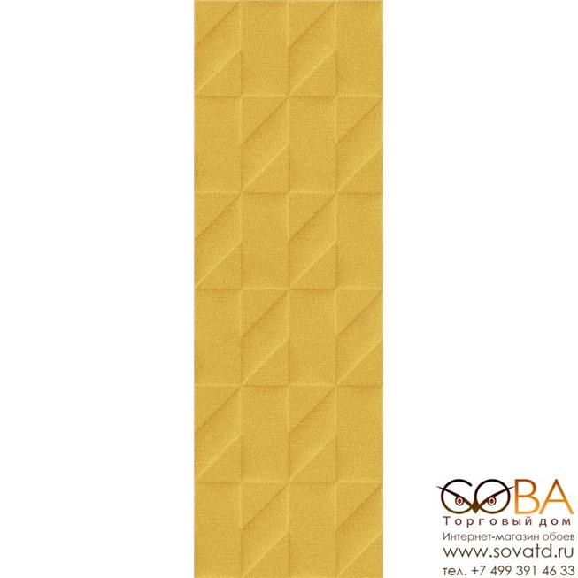 Плитка Marazzi  Outfit Ocher Struttura Tetris 3D 25x76 купить по лучшей цене в интернет магазине стильных обоев Сова ТД. Доставка по Москве, МО и всей России