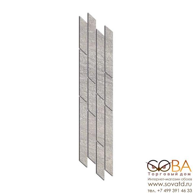 Бордюр Kerama Marazzi  Гренель серый мозаичный 9,8х46,5 купить по лучшей цене в интернет магазине стильных обоев Сова ТД. Доставка по Москве, МО и всей России