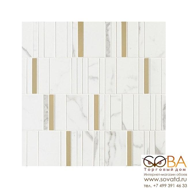 Мозаика Marazzi  Allmarble Wall Statuario Mosaico Barcode Lux 40х40 купить по лучшей цене в интернет магазине стильных обоев Сова ТД. Доставка по Москве, МО и всей России