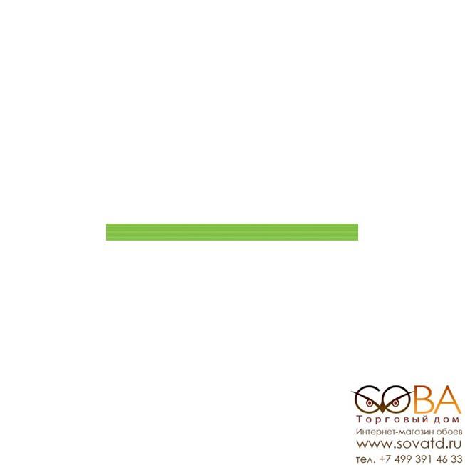 Бордюр Line  стеклянный Green Strokes 30х2 купить по лучшей цене в интернет магазине стильных обоев Сова ТД. Доставка по Москве, МО и всей России