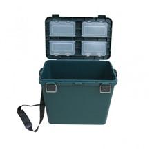 Ящик для зимней рыбалки односекционный Тонар Helios-M (зеленый)
