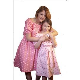 Familly Look для мамы и дочи (выкройки + видео МК)