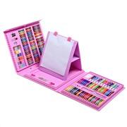 Детский набор для творчества 176 предметов розовый