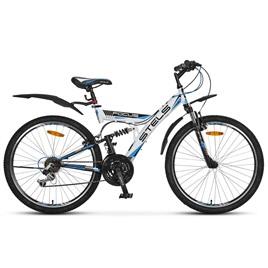 Велосипед Stels Focus V 18 sp 26 (2016) Зеленый/Синий/Черный, интернет-магазин Sportcoast.ru