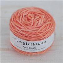 Пряжа Aran Single solid Коралл, 120м/100г., Cowgirlblues, Coral