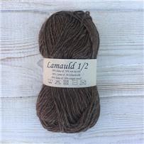 Пряжа Lamauld Коричневый микс 6085, 100м/50г, CaMaRose, Brunmeleret