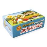 Краски акриловые художественные Акрилэкс 6 цветов по 20 мл 24-6.20-50