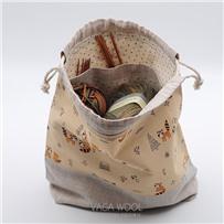 Проектная сумка (средняя) Пара енотов