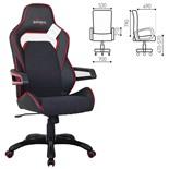 Кресло компьютерное Brabix Nitro GM-001 экокожа/ткань, черное 531816