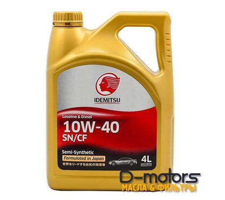 Моторное масло Idemitsu 10W-40 (4л.)