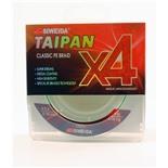 Леска плетеная Siweida Taipan Classic PE Braid X4 135м 0,10мм (4,05кг) светло-зеленая
