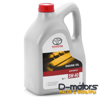 Моторное масло Toyota Engine Oil 5W-40 (5л.)