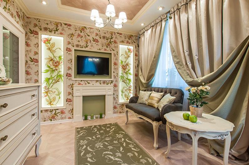 Обои для гостиной в стиле Прованс. Интернет-магазин sovatd.ru