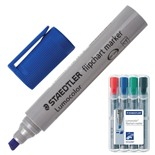 Маркеры для флипчарта Staedtler Lumocolor линия 2-5 мм 4 цвета 356 B WP4