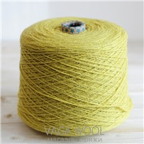 Пряжа City, 019 Лимон, 191м/50г, шерсть ягнёнка, шёлк, Vaga Wool