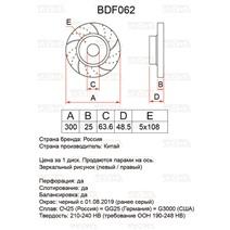 BDF062. Передняя ось. Перфорация + слоты