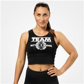 Укороченная майка Team BB Rib Tank, черная
