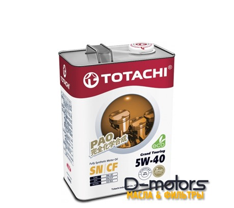 Моторное мало Totachi Grand Touring 5w-40 (4л.)