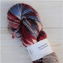 Пряжа Aran Single multicolor марсала/песок/какао/деним, 120м/100г., Cowgirlblues