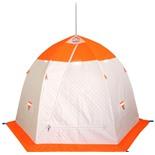 Зимняя палатка Пингвин 2 Термолайт трехслойная (белый/оранжевый)